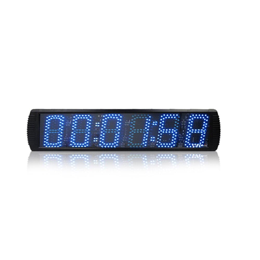 Супер большие цифровые настенные часы светодиодный будильник таймер обратного отсчета пульт дистанционного управления большой номер свет... - 2