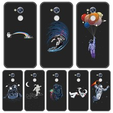 Back Cover For Huawei Honor 4C 5C 6C 6A Pro Astronaut Space Funny Silicone Soft Case For Huawei Honor 4X 5A 5X 6 6X Phone Case(China)