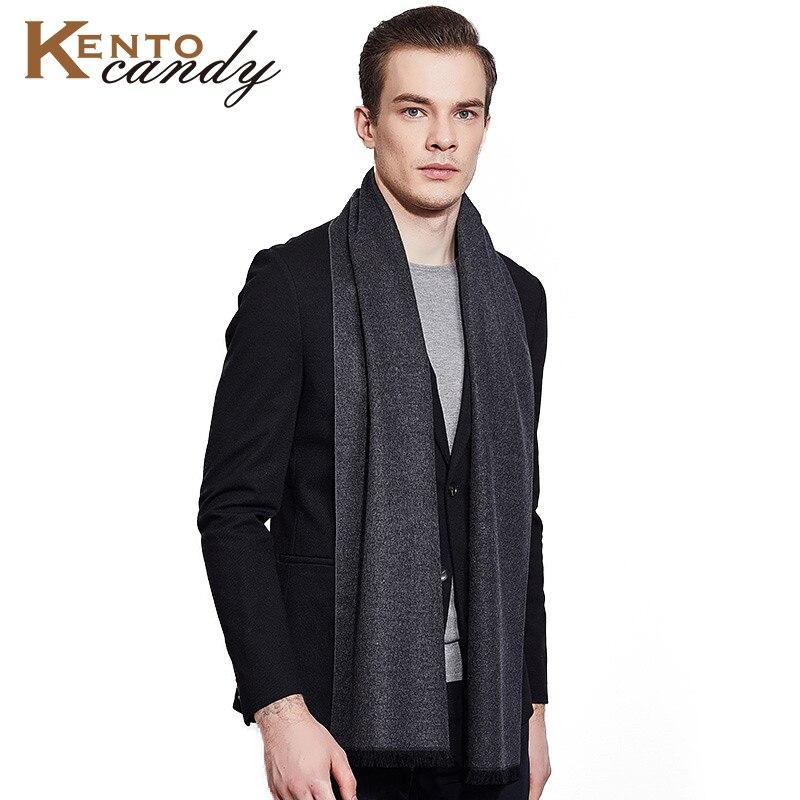 Winter Cashmere Scarf For Men Warm Wool Russian Shawl Scarves Warm Cotton Luxury Brand Tassel Black Blanket Gentleman Gift