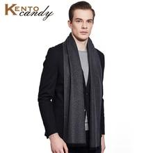 winter cashmere scarf mens warm double-sides wool shawl Scarves Warm cotton luxury brand tassel black blanket Gentleman gift