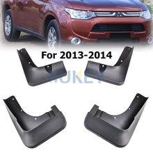 Kit de guardabarros automático para Mitsubishi Outlander, guardabarros delantero y trasero, 4 piezas, accesorios de estilo de coche