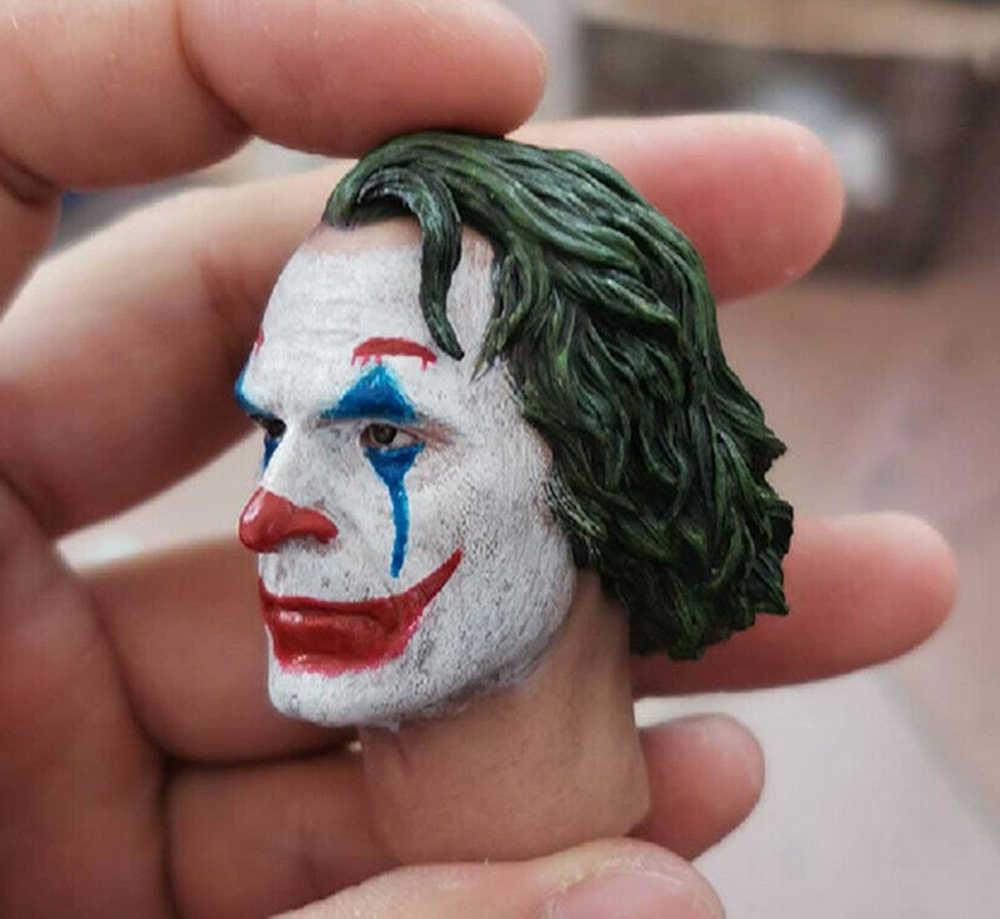 """Untuk Koleksi 1/6 Joker Joaquin Phoenix Badut Makeup Kepala Patung Ukir F 12 """"Figure Boneka Mainan"""