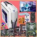 Полный комплект материнской платы HUANANZHI Runing X79/X99 500G SSD 1650V2/2670V2 RAM 64G (4*16G) 500W PSU GTX1060 6G 22 'монитор