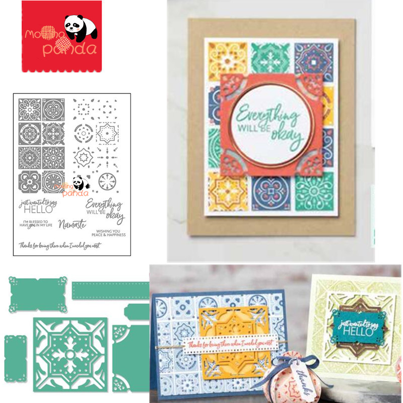 MP166 SUMMER DAYS Metal Cutting Dies and Stamps Stencil For DIY Scrapbooking Pap