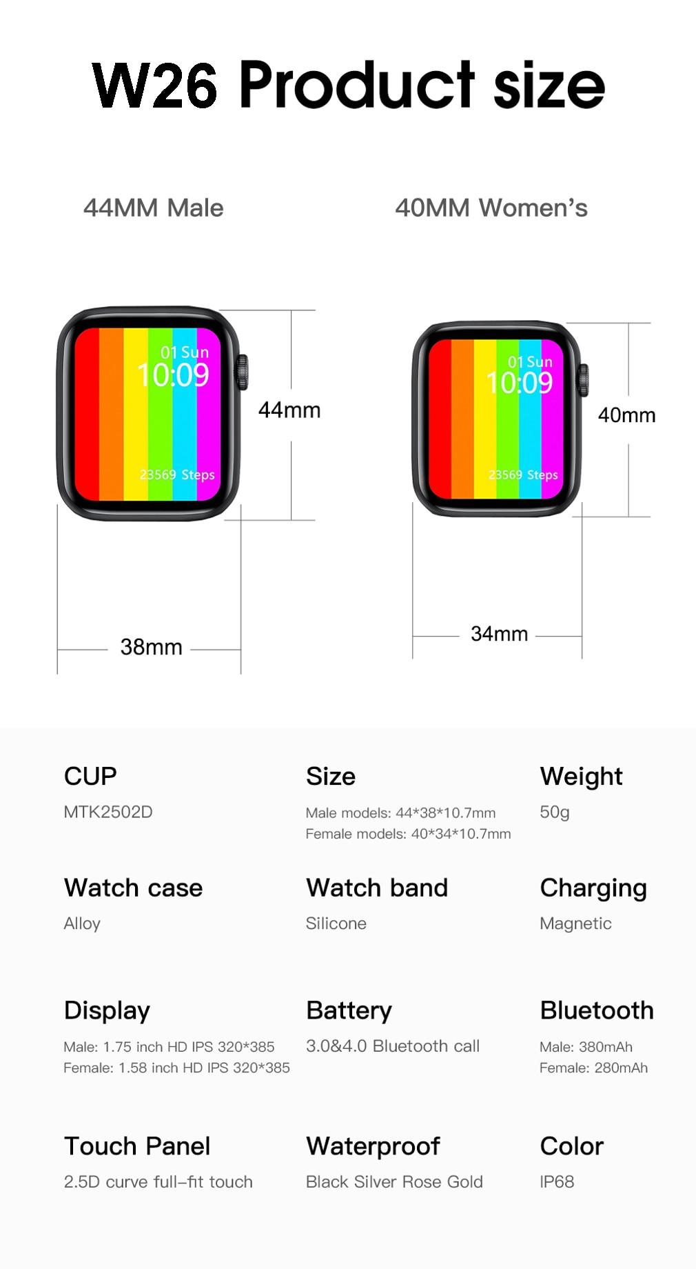 Ha08f2fc48fd24e28b24978a22a527e83X DT100 pro Smart Watch Bluetooth Call Custom Dynamic Watch Face IP68 Waterproof Smartwatch Men Women for Apple Watch Iwo W26