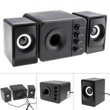 Newest Full Range 3D Stereo Subwoofer 100% Bass PC Speaker Portable Music DJ USB2.1 Computer Speakers for Laptop TV
