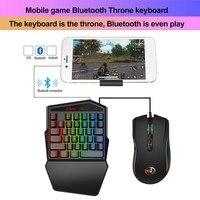 K88 무선 블루투스 키보드 마우스 PC 태블릿 전화에 대 한 PUBG 모바일에 대 한 설정
