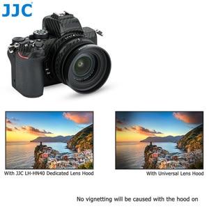 Image 5 - JJC Metal Screw in Lens Hood for Nikon Z50 Camera + Nikkor Z DX 16 50 F/3.5 6.3 VR Lens Replace Nikon HN 40 Lens Shade Protector