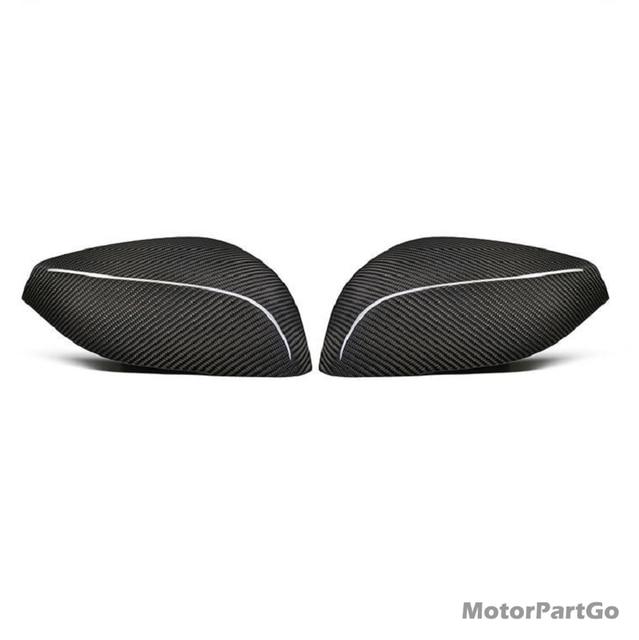 Real Dry Crabon Fiber Mirror Cover Exchange original 1 pair for  Infiniti Q50 Q50L Q60 QX30 Q70 2014-UP T269 2
