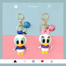 Popular Creative Cute Cartoon Trend Simple Key Chain Mickey Minnie Duck Doll Key Chains Bag Pendant Key Ring Wholesale 2019 new hot fashion cute lovely rabbit feautiful popular simple personalidad casual key chains 6096