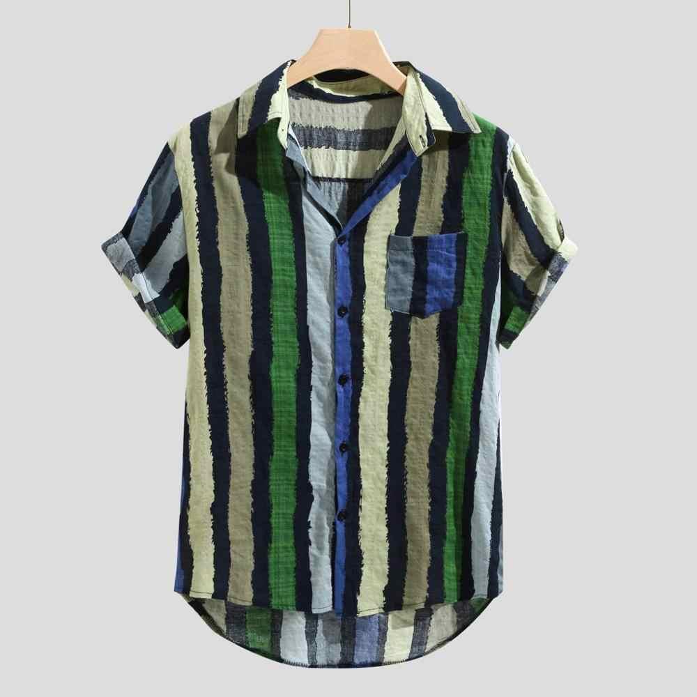 Повседневная рубашка в полоску с воротником для мужчин, хлопковая дизайнерская брендовая приталенная Мужская рубашка, белые рубашки с длинными рукавами, Мужская Летняя мужская одежда S64