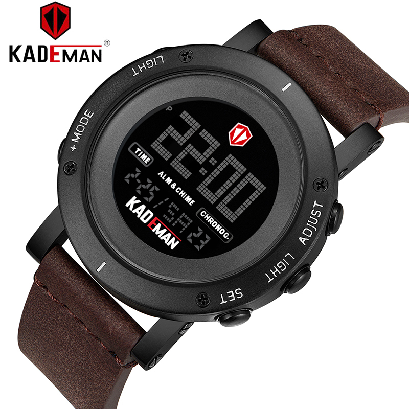 KADEMAN Luxus Marke Mode Mann der Uhr Luxus Analog Digital Military Sport LED Wasserdichte Armbanduhr Relogio Masculino K010-in Digitale Uhren aus Uhren bei  Gruppe 3