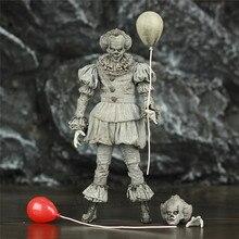 """SDCC 2019 Pennywise ES Geätzt 7 """"2017 Film Action Figur Stephen König ES Schwarz und Weiß B & W exklusive Original NECA Spielzeug Puppe"""