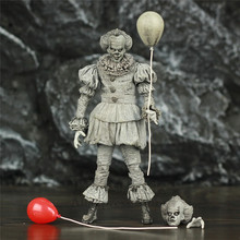 """SDCC 2019 Pennywise IT Etched 7"""" 2017 Movie Action Figure Stephen King IT Black and White B&W Exclusive Original NECA Toys Doll"""