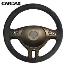CARDAK прошитая вручную черная замшевая искусственная кожа для BMW E46 325i X5 E53 E39 автомобильные аксессуары