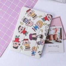 цена на Soft Back PU Leather Cartoon Style Pattern cover case for ipad mini 5 case auto sleep & wake up For ipad Mini 1 2 3 4 5 Case