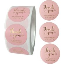 100-500pcs Thank You For Supporting My Small Business Label Stickers Thank You Sticker Roll For Wedding Party Packaging Box Seal