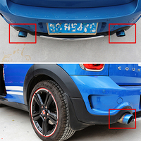 Car accessories exterior stainless steel Exhaust muffler For BMW MINI COOPER S F54 F56 F60 R55 R56 R60 tail throat Modification