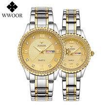 Wwoor/Новинка часы для пары лучший бренд Роскошные наручные
