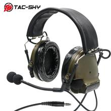 COMTAC III TAC SKYcomtac IiiซิลิโคนEarmuffsอิเล็กทรอนิกส์ลดเสียงรบกวนรถกระบะทหารยุทธวิธีInterphoneยิงHeadsetFG