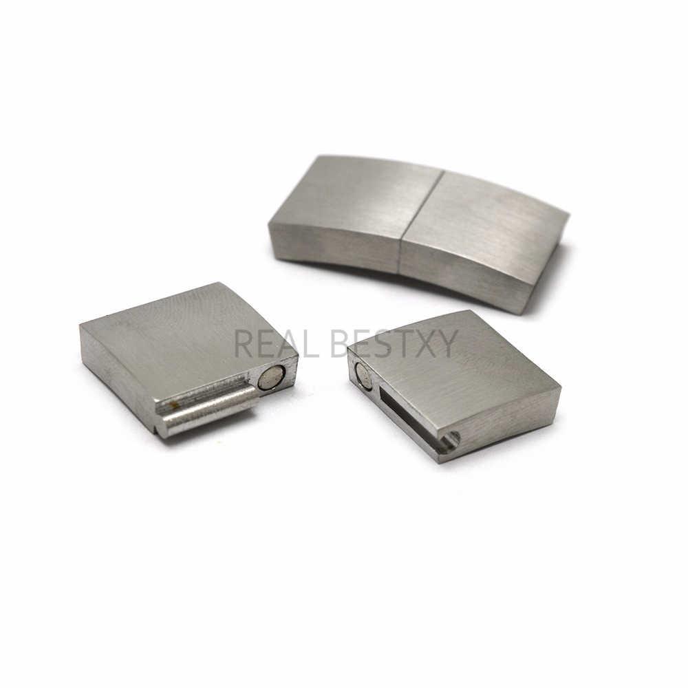 รู: 15*3.2 มม.5 ชิ้น/ล็อตสแตนเลส Clasp Magnetic สายไฟ Clasps แม่เหล็กหัวเข็มขัด DIY เครื่องประดับทำสร้อยข้อมืออุปกรณ์