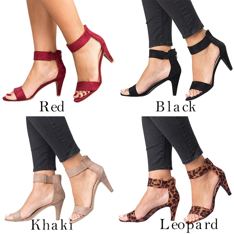 Dihope Open Toe Summer Shoes With High Heels Sandals  Strap Female Zapatos De Mujer Thin Heel Shoe Sandalias Mujer Drop Shipping