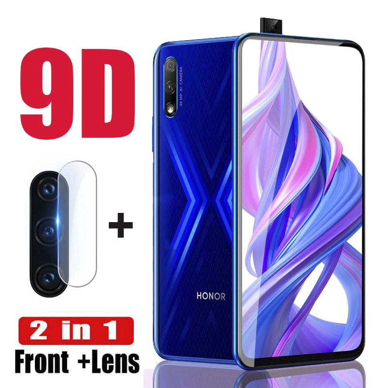 2Pcs Full Cover Glass For Huawei Honor 9X Camera Lens Protective Glass For Honor9X Honer X9 Hono HLK-L21 6.59 Safety Front Films