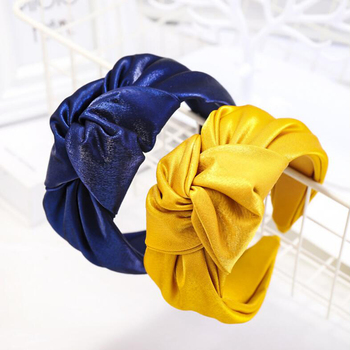 New Fashion High Quality Hair Accessories Wide Side Shining Cloth Headband Band Classic Hoop Adult