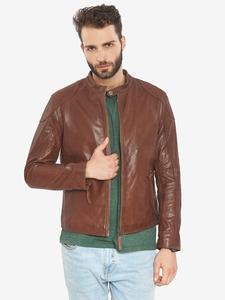 Image 4 - VAINAS avrupa marka erkek Premium Buffalo deri ceket erkekler kış gerçek deri motosiklet ceketler Biker ceketler ROMEO