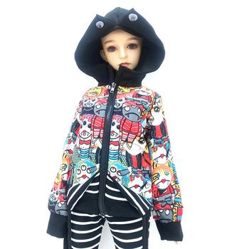 30 60cm ubranka dla lalki modna kurtka lub pasiaste spodnie dla 1 3 1 4 1 6 SD DD ubranka dla lalek BJD ubranka dla lalki akcesoria dla lalek chłopiec dziewczyna zabawki płaszcz tanie i dobre opinie JIMITU Tkanina CN (pochodzenie) for doll Unisex Styl życia Koszule i bluzki for 60cm bjd doll Only doll clothes