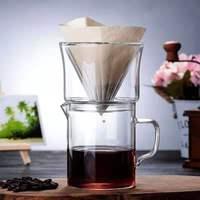 Hario Kalten Sammlung Einfache Glas Kaffee Tasse Sharing Topf Kaffee Topf Doppel Glas Kaffee Filter Tasse Trichter Set-in Kaffeepott aus Heim und Garten bei