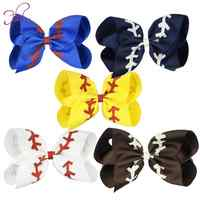"""8"""" Girls JoJo Bows Hair Accessory Girl Bows Large Rainbow olive branch Bow-knot Print Grosgrain Ribbon Hair Bows With Clip Kids"""