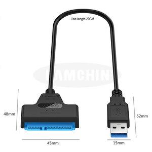 Sata USB Cable Sata To USB 3.0 Adapter Suport 2.5 Inches External SSD HDD Hard Drive 22 Pin Sata III Cable USB Sata 3.0 Adapter
