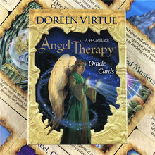 Angel Therapy Oracle Cards 44 Card Deck Game English Tarot Cards For Fun Game Playing Card Board Games Entertainment
