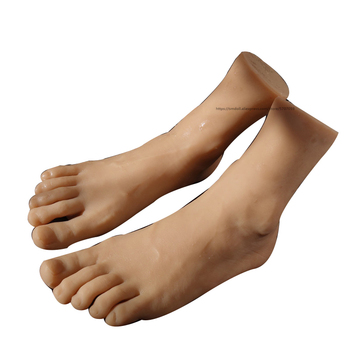 Silicone Life size Male Mannequin Foot Display Model for Art Practice Jewelry Sandal Shoe Sock Fetish fake foot model stockings mannequin rubber plastic art silicone female male tpe zishine 3600
