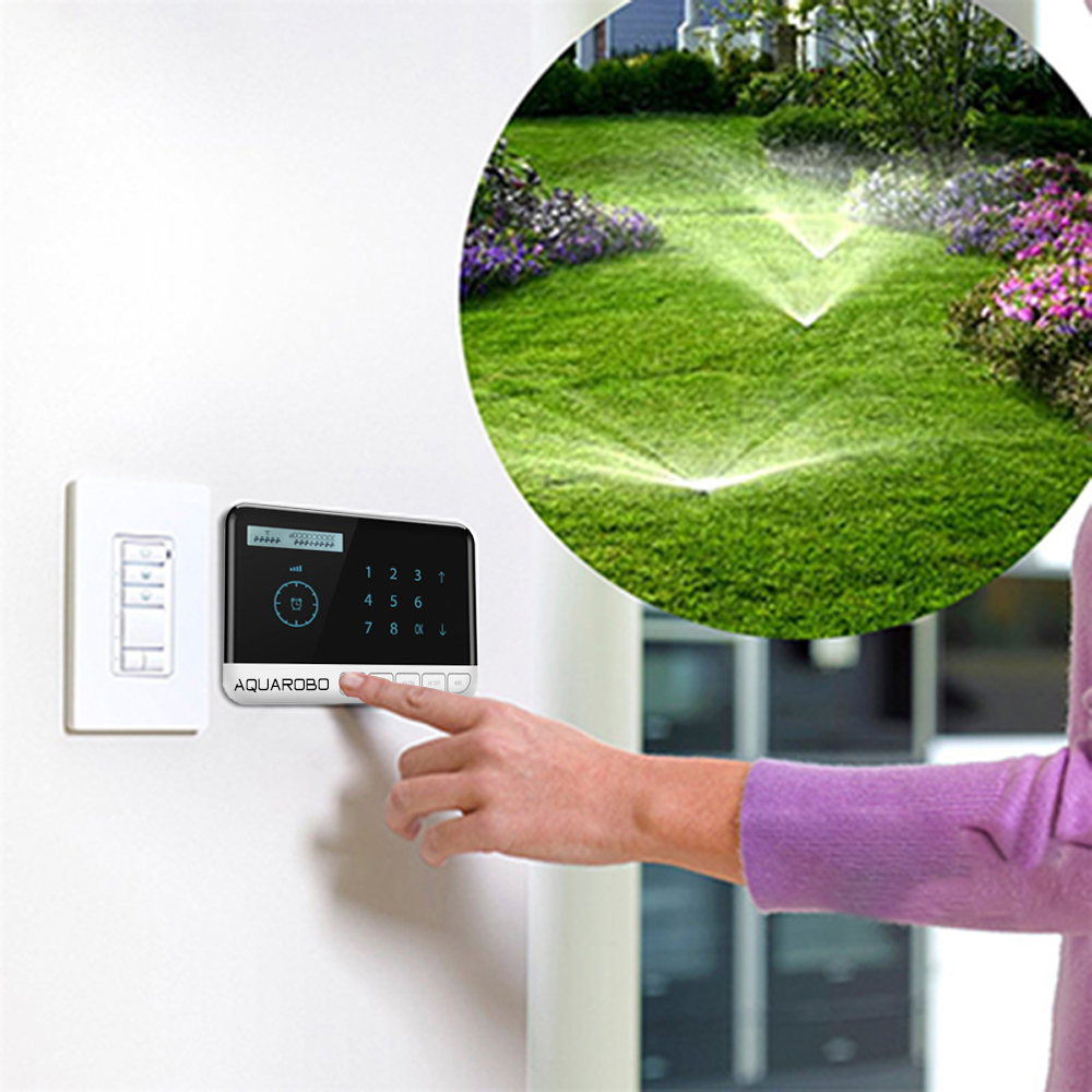 Garden Watering Timer Tuya Wifi Irrigation Timer Android/IOS Voice Sprinkler Controller 8 Zone Garden Watering System Controller