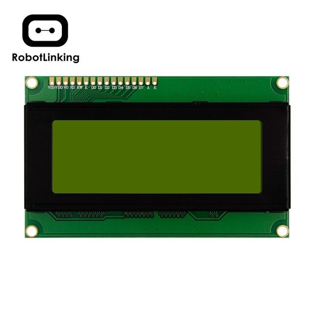 LCD 2004 תצוגת מודול 5V Yello ירוק (כחול) מסך 20*4 LCD