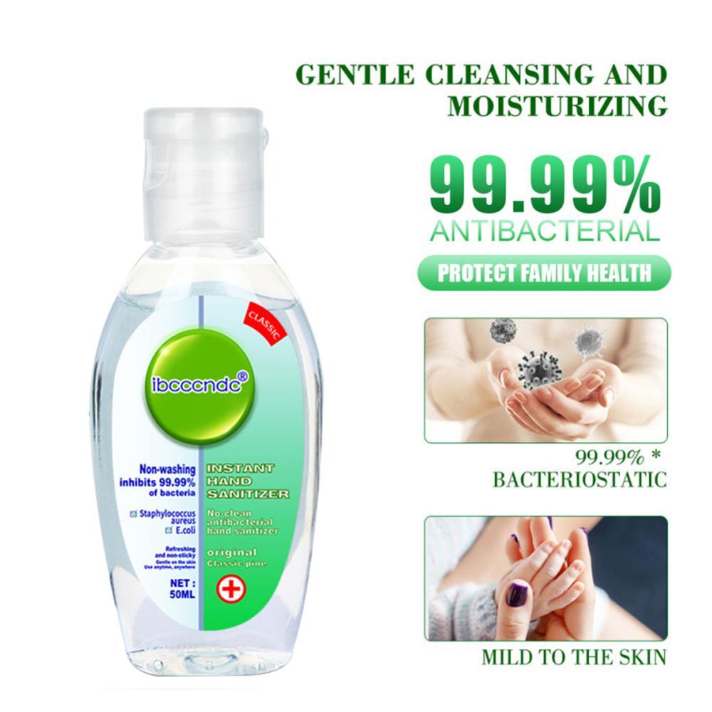 99.99% Antibacterial Hand Sanitizer Moisturizing Disposable Waterless Hand Sanitizer Gel Alcohol Hand Wash Antiseptic Handgel