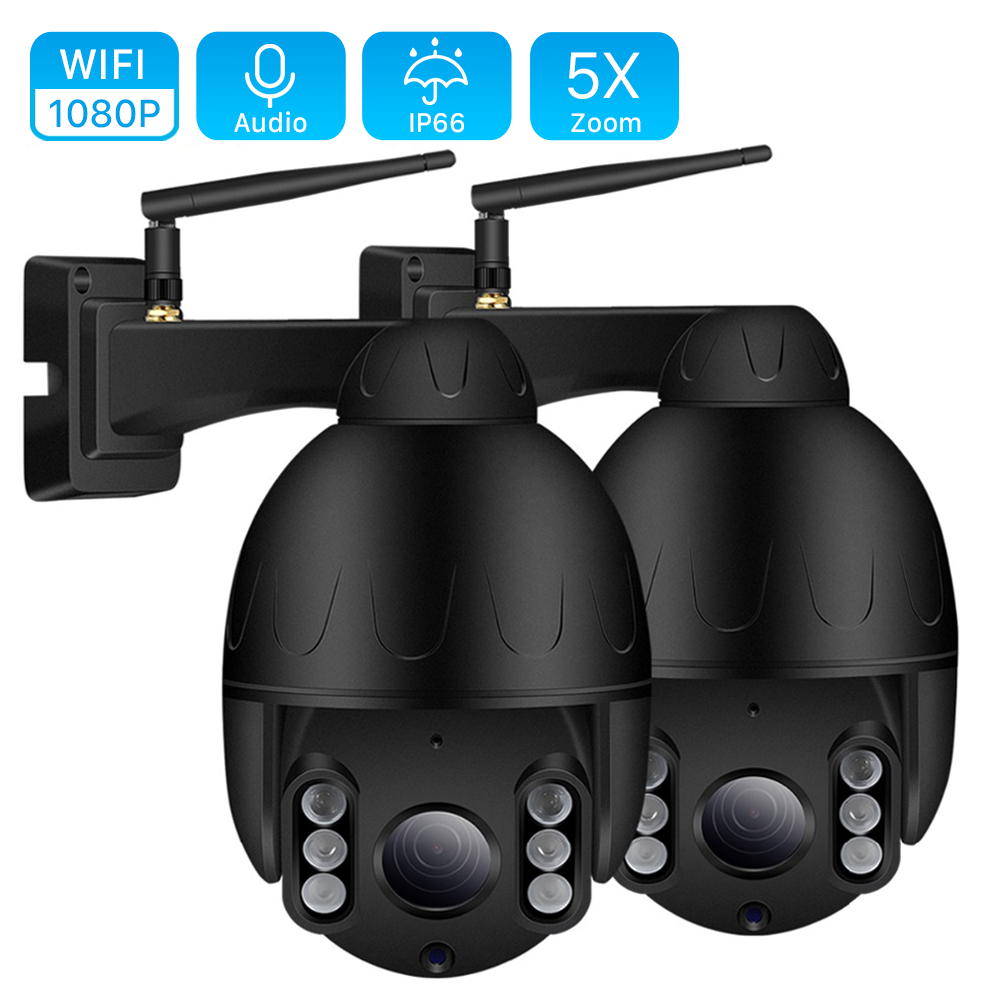 1080P 2MP PTZ IP Camera Outdoor Onvif 5X ZOOM Waterproof Mini Speed Dome Camera 2MP H.264 IR 50M P2P CCTV Home Security Camera