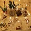 Хит продаж, светодиодный светильник, цепочка для освещения в помещении, фотооткрытка, Настенная декоративная проволочная сетка, красный св...