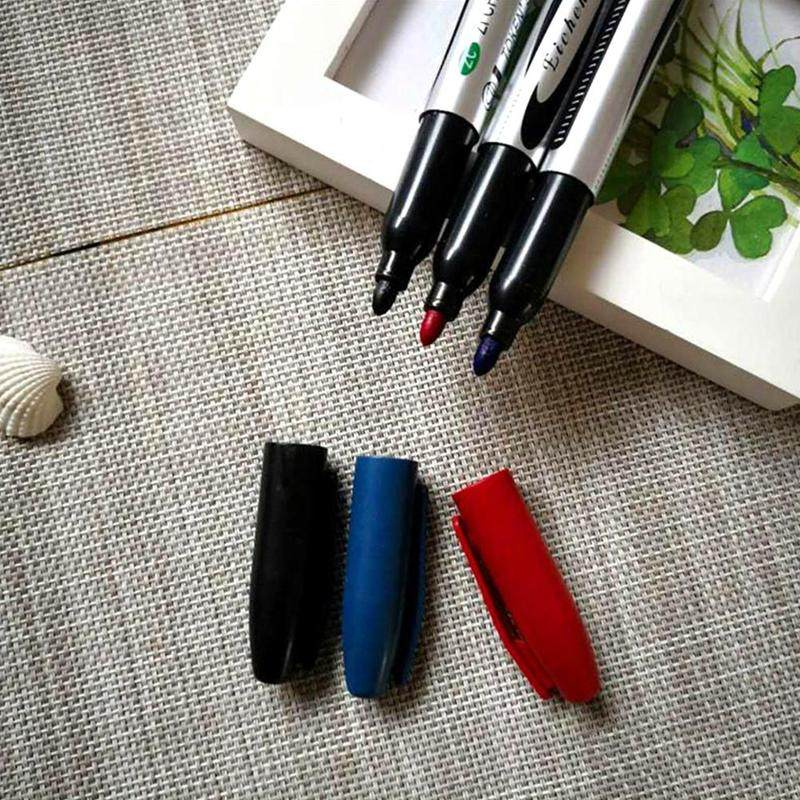 Plastic Oily Makers Waterproof Permanent Marker Pens For School Office Supp Y5A6