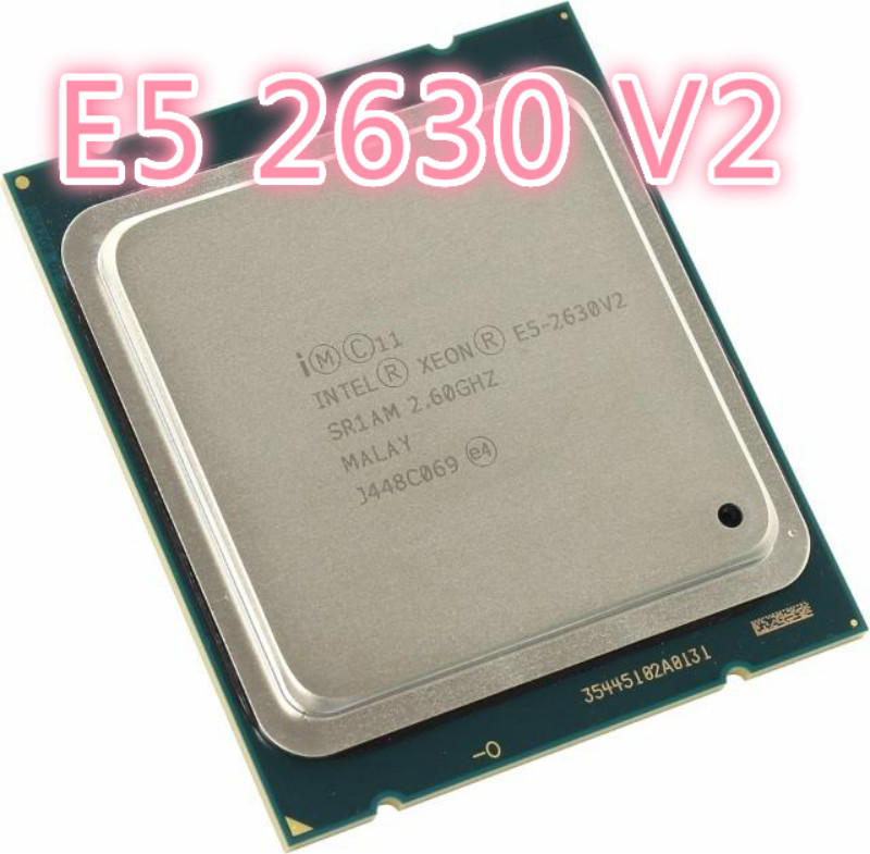 Intel XEON E5 2630 V2 Sr1am 2.6 GHz 15 MB 7.2 GT/s Six-core Server CPU Processor