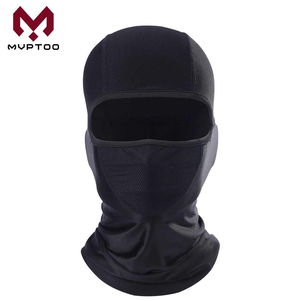 Black Moto Balaclava Summer Breathable Motorcycle Motocross Cycling Fishing Outdoor Sport Head Shield Full Face Mask Men Women