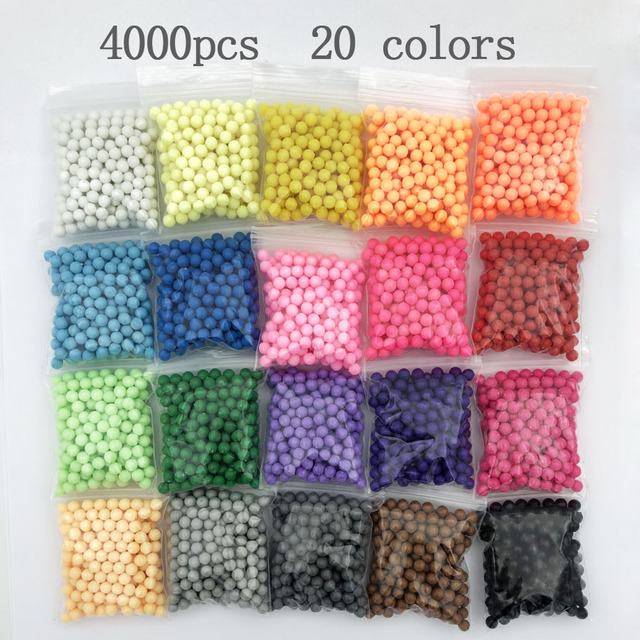 30color Grid/Box Beads Puzzle Crystal Color Aqua DIY magic Beads Water spray Set Ball Games 3D Handmade Magic Toy for Children