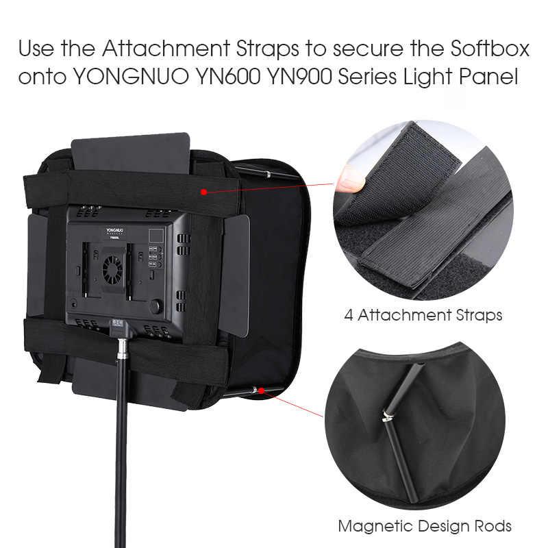 SB600/SB300 Studio Softbox Diffuser untuk Yongnuo YN600L II YN900 YN300 YN300 III Air Lampu Video LED Panel Lipat lembut Filter