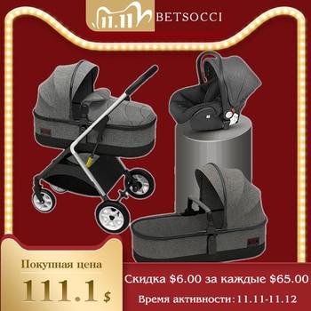 baby stroller four wheel trolley 2 in 1 High landscape folding portable trolley two way baby stroller  baby car