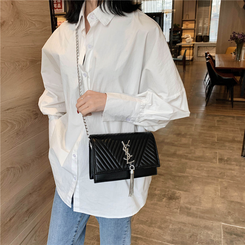 Fashion Designer Chain Crossbody Bag Luxury Tassel Single Shoulder Messenger Bag Ladies Large Capacity Handbag Purse Louis Brand