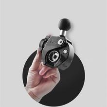 Сверхмощный алюминиевый крепкий зажим с 1 дюймовым резиновым шариком для сотового телефона для gopro мотоцикла