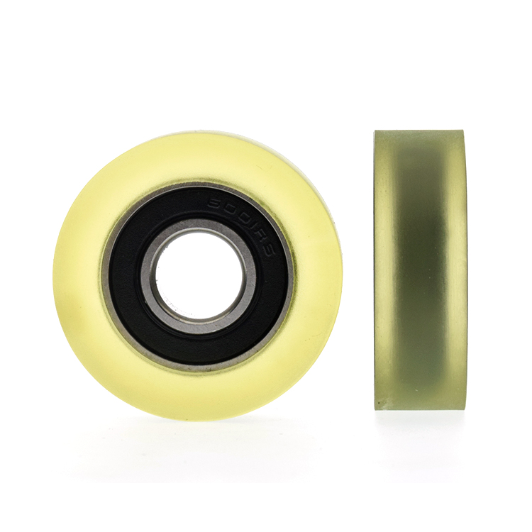 5pcs U Nylon plastic Embedded 6001 Groove Ball Bearings 12*38*11mm Guide Pulley