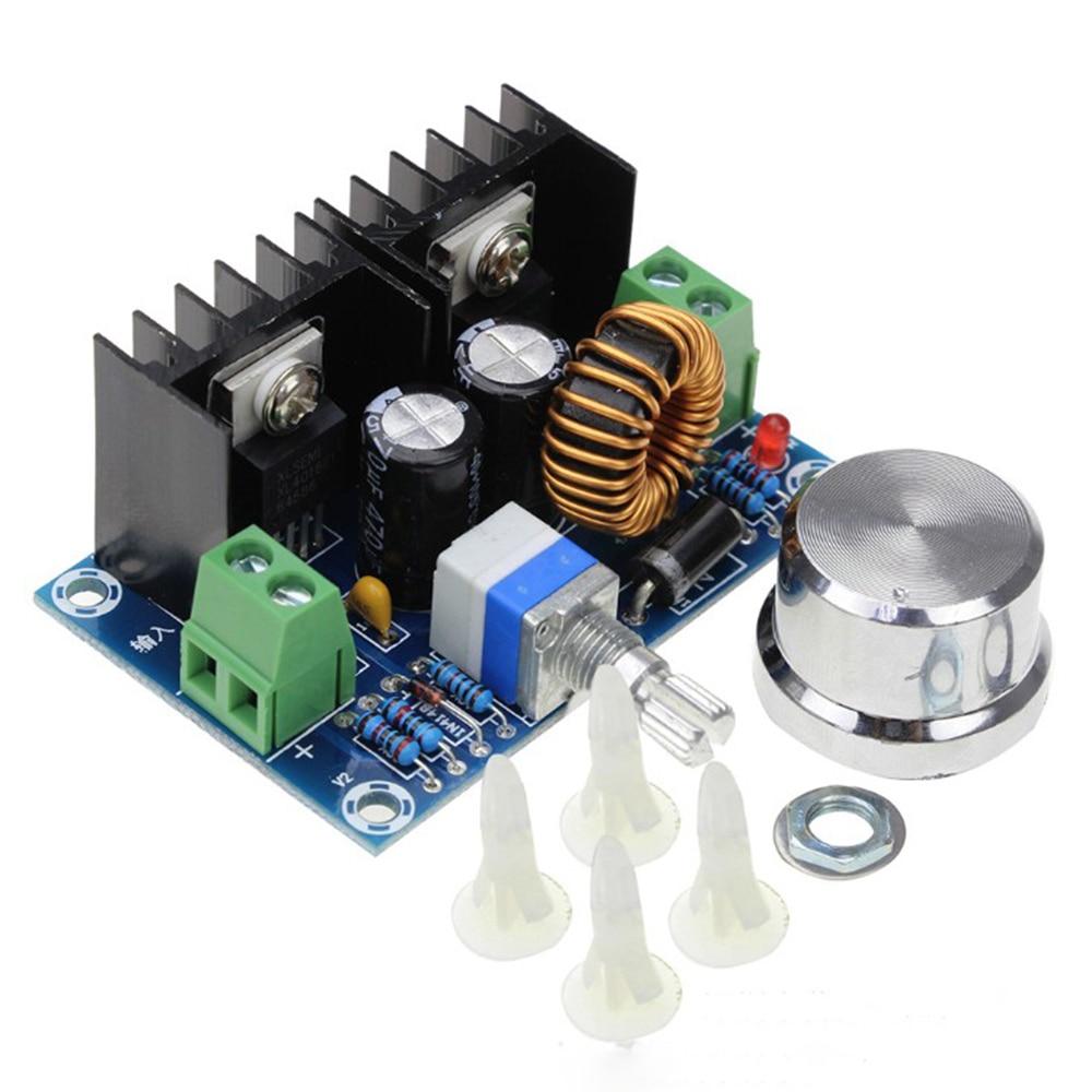 Regulador de tensión regulable PWM de DC4-40V módulo de fuente de alimentación ajustable 4-40V a 1,25-36V Placa de bajada 8A